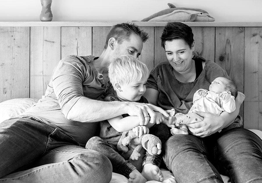 kraamfotografie Pijnacker familieportret