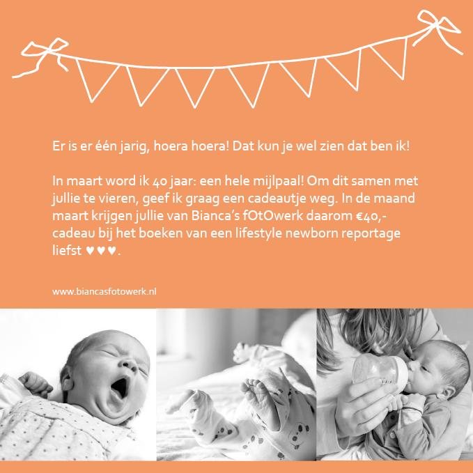 bianca lifestyle newborn fotograaf jarig verjaardag cadeau