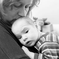 kerstkorting newbornfotograaf delft
